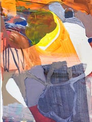 "Georganna Greene, ""Dance of the Elements,"" 2017, enamel"
