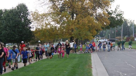 2013 International Walk to School Day in Brockport