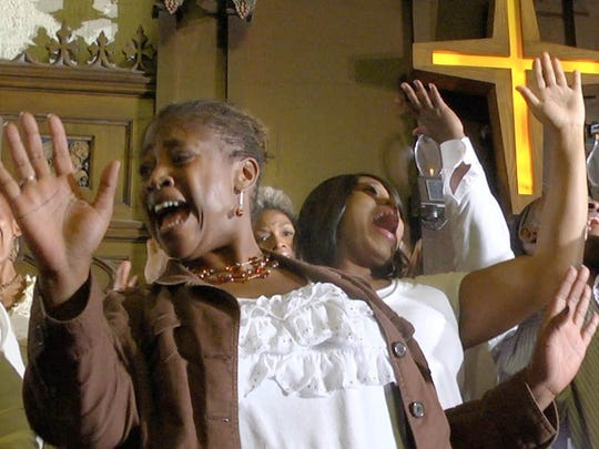 "Soprano Rosa Warner-Jones in a scene from the documentary ""Let's Have Some Church Detroit Style."" It plays at 4 p.m. Sunday at the Detroit Film Theatre at the DIA."