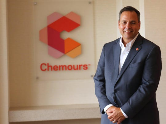 Chemours Chief Executive Mark Vergnano in the offices of the DuPont Building in downtown Wilmington.