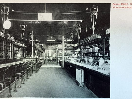 The Smith Brothers Store in a post card from the Adriance Memorial Library. The store was located in the City of Poughkeepsie.