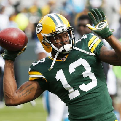 Green Bay Packers' Kevin Dorsey warms up before the Oct. 19 game against the Carolina Panthers at Lambeau Field.