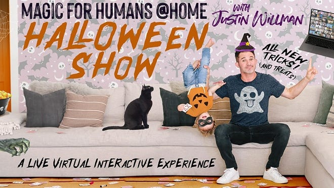 Magician Justin Willman presents a mind-blowing and hilarious Zoom experience for the whole family, just in time for Halloween.