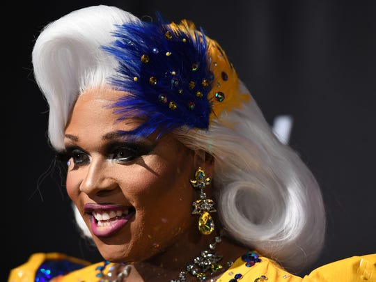 "Peppermint, a transgender drag queen who grew up in Wilmington, attends the ""RuPaul's Drag Race season premiere party on March 7 in New York."