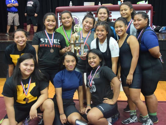The John F. Kennedy Lady Islanders took the third place finish with 104 points in the 2017 IIAAG Girls Wrestling All-Island meet on Friday, Dec. 15 at the Father Duenas Phoenix Center.