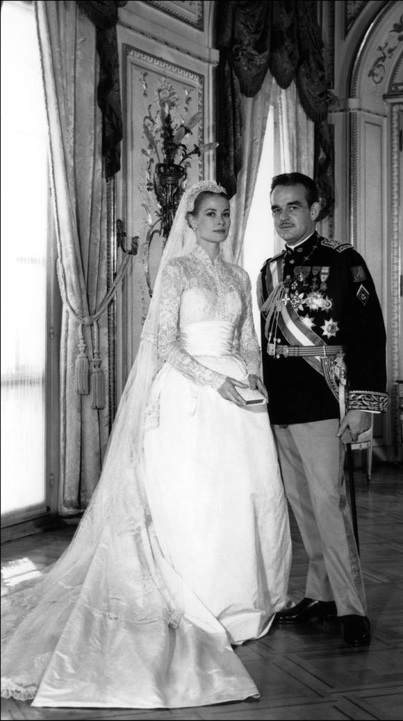 Grace Kelly weds Prince Rainier of Monaco on April