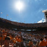 Tennseess fans fill the stands to watch the VOls take on Florida at Neyland Stadium on Saturday, Sept. 24, 2016.