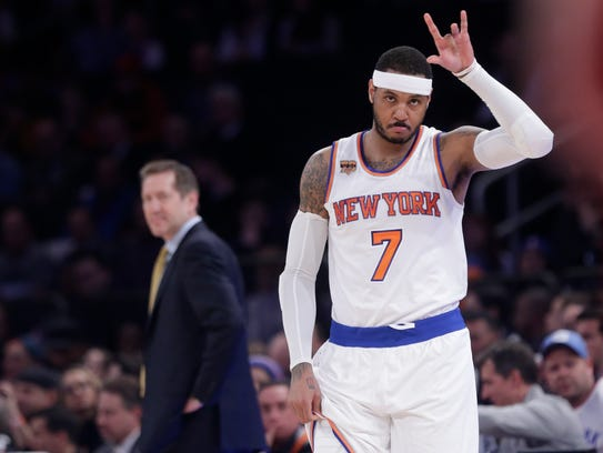 Carmelo Anthony, still part of the organization, still