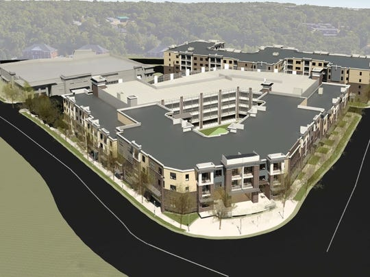 Overhead view of the NorthPointe development.