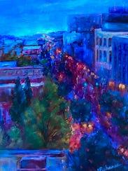 """Goodnight Portland"" by artist Joan Pechanec."