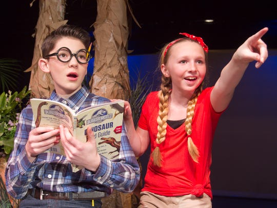 Ethan O'Dell, left, playing Jack and Alexis Gronow
