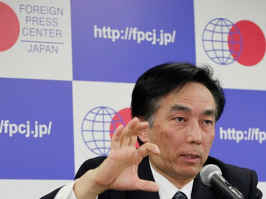 Koichi Tanigawa, Vice President at the Fukushima Medical University, speaks during a media conference in Tokyo, Thursday, March 9, 2017. Doctors say over 180 thyroid cancer cases among Fukushima youngsters found since the nuclear accident cannot be linked to radiation, which they say is not the region's biggest cause of health problems.