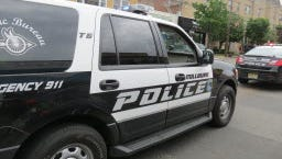 A Millburn Police Department vehicle