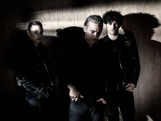 Black Rebel Motorcycle Club (left to right) Leah Shapiro,