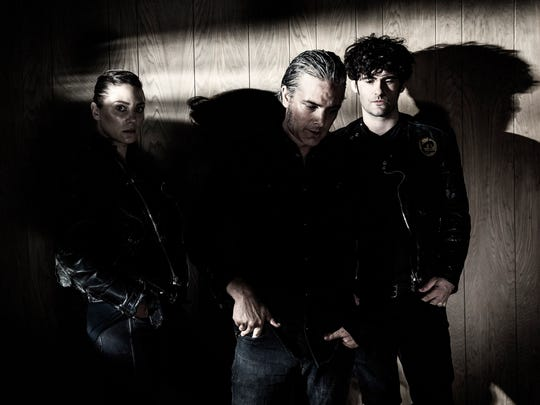 Black Rebel Motorcycle Club (left to right) Leah Shapiro, Peter Hayes, Robert Levon Been