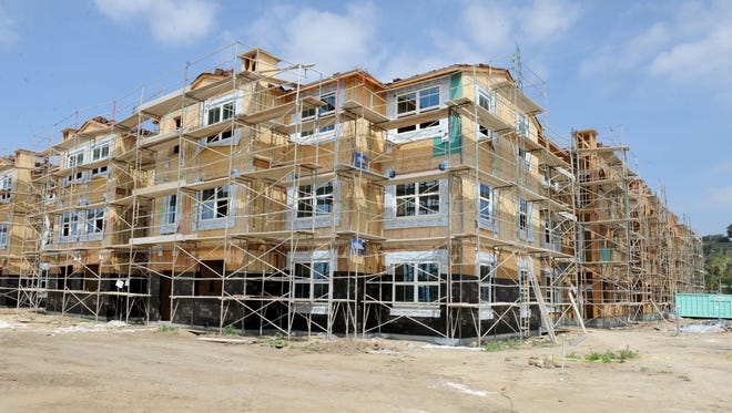 Home sales declined this month in Ventura County but the area still suffers from a shortage of housing. Some of that will be helped by new apartments being built by the Fore Property Co. at Springville Drive and Camino Tierra.