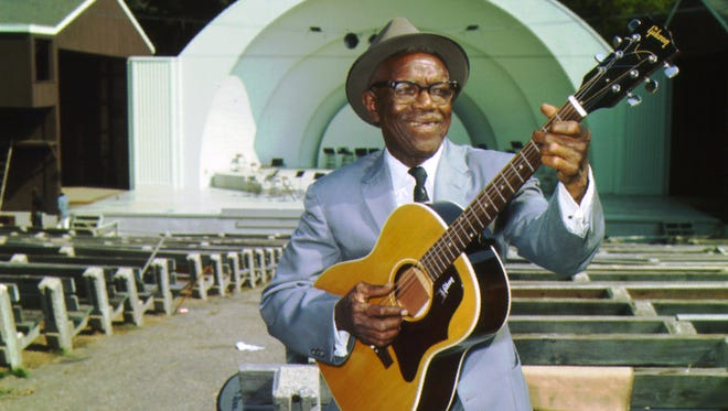 Bluesman Furry Lewis in an undated photograph at the Overton Park Shell. Lewis died Sept. 14, 1981.
