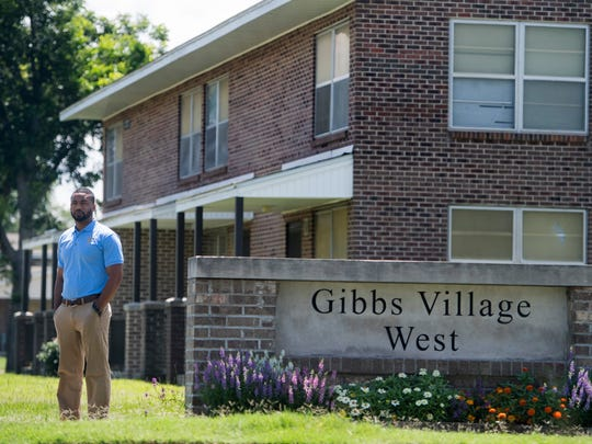 Anthony Brock, principal of Valiant Cross Academy, is shown in Gibbs Village in Montgomery, Ala. on Friday July 7, 2017.  Gibbs Village was one of the first neighborhoods that Valiant Cross recruited in, now that take students from all of the west side of Montgomery.