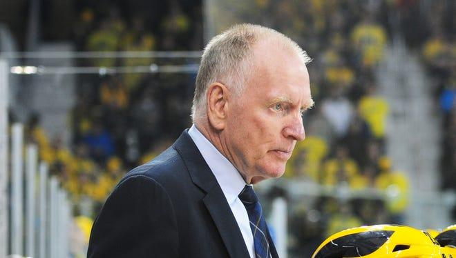 Michigan coach Red Berenson