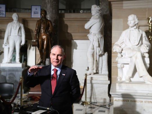 EPA Administrator Scott Pruitt does a television interview
