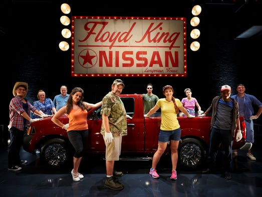 """Ensemble Theatre Cincinnati's """"Hands on a Hardbody"""" (story by Pulitzer winner Doug Wright and music from Phish's TreyAnastasio) is based on a real story about Texans testing their endurance to win a truck. We asked the 10 contestants to answer one of these questions: Why should you win this truck? And how far will you go to get it?"""
