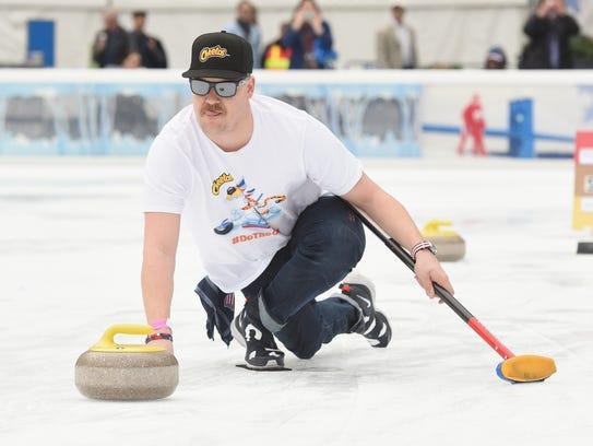 Matt Hamilton of the U.S. men's curling team joined