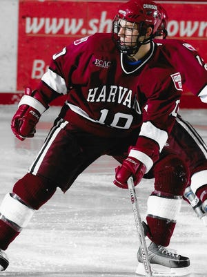 Bill Keenan playing for Harvard in 2007.