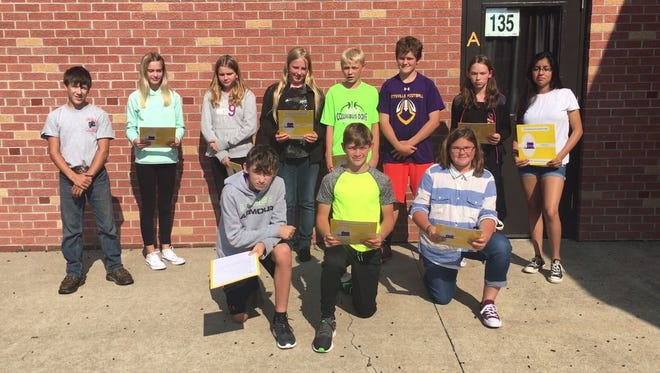 Seventh-grade students in Michelle Abel's Project Service Learning Class at Pittsville School are collecting donations to help victims of Hurricane Harvey.