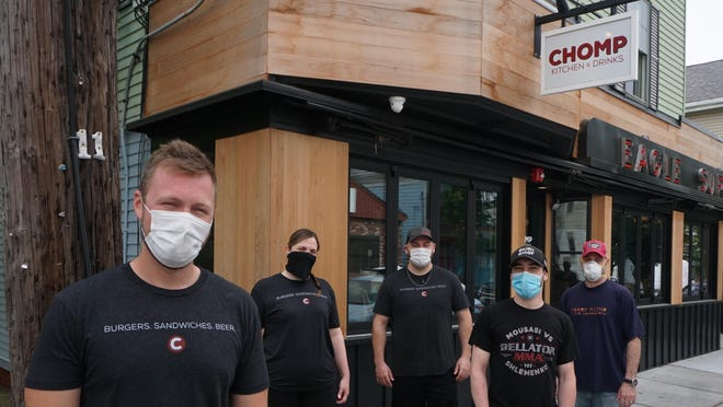 Mask up like the team that will open Chomp Kitchen & Drinks next week.