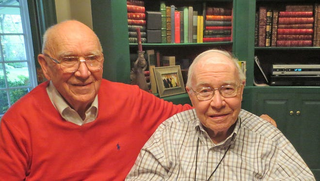 John Zimmerman, left, and Bill Wolf are shown in this file photo from 2013.