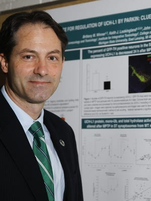 Swiss-born MSU research professor Dr. Andre Bachmann, pictured Nov. 20, 2015, at the Life Science building in East Lansing, discovered a connection between the drug DFMO and the treatment of neuroblastoma.