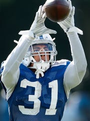 Indianapolis Colts cornerback Quincy Wilson (31) during