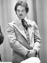 Former Eagles player Kevin Reilly at the 29th annual Salesianum Alumni Sports Banquet on March 24, 1977.