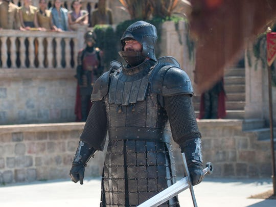 "Hafþór Júlíus Björnsson as Gregor Clegan, aka ""The Mountain,"" in a scene from the HBO television series ""Game of Thrones."""