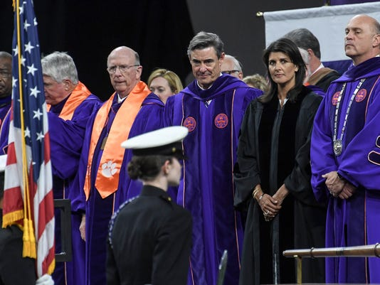 Clemson graduation Nikki Haley