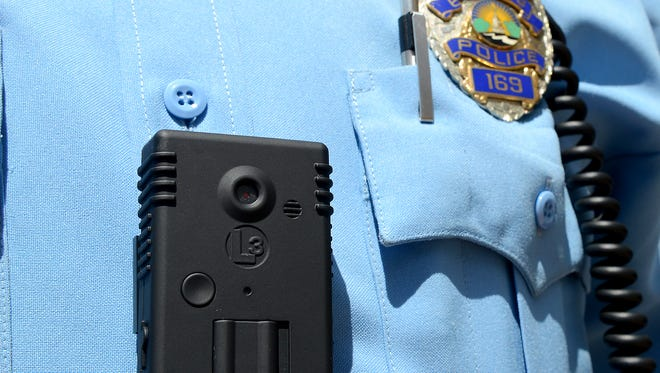 The Lansing Police Department's patrol officers are now using body cameras similar to this one. The department has 130 of them and a system that keeps track of footage.