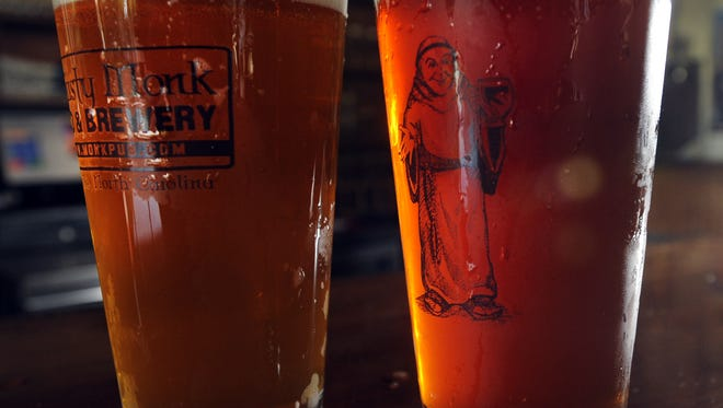 Have a beer, take home the glass at the three Thirsty Monk pubs. Each has features a differnt brewery Wednesday night.