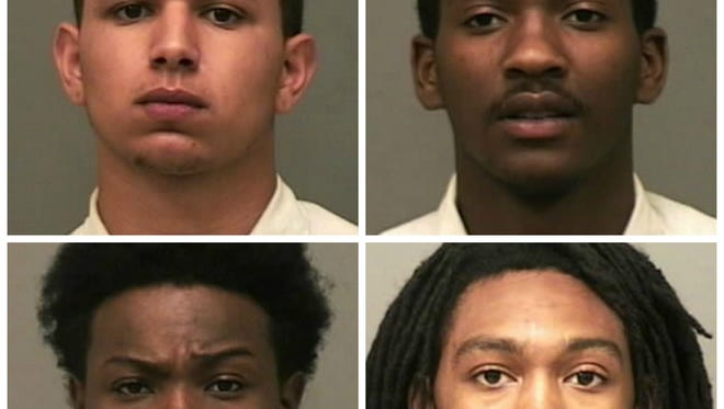 Clockwise from the top left, Deshaun Palmer, Tyler Stafford, Traquille Hopson and Earl Brody.