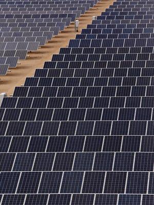 Solar panels at a plant in Buckeye.