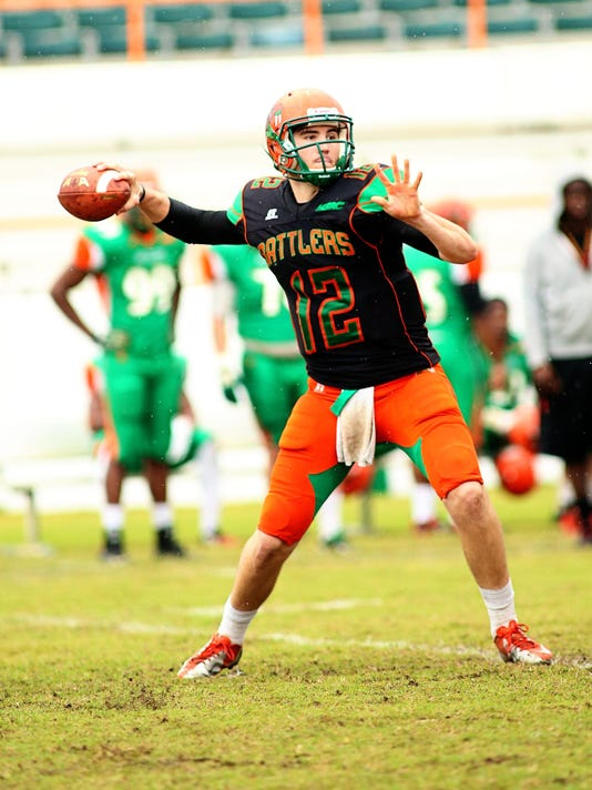 Carson Royal delivers a pass