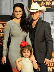 Justin Moore is pictured with his family Dec. 15 at the American Country Countdown Awards at Music City Center in Nashville.