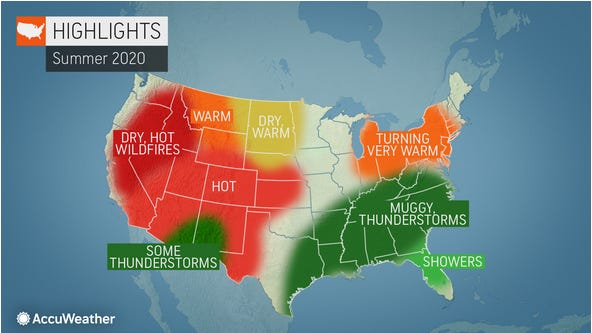 AccuWeather has forecast a hot summer for most of West Texas and the western United States with an elevated wildfire danger.