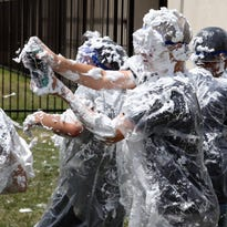 Buena Vista students end the year celebrating, cleaning up and battling with shaving cream