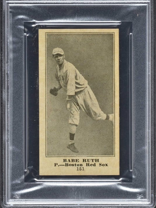 Babe Ruth Rookie Card And Game Used Bat Headline Sports Auction