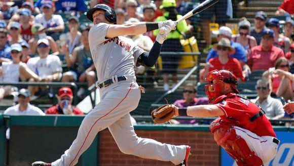 Arlington, TX, USA; Boston Red Sox right fielder Bryce