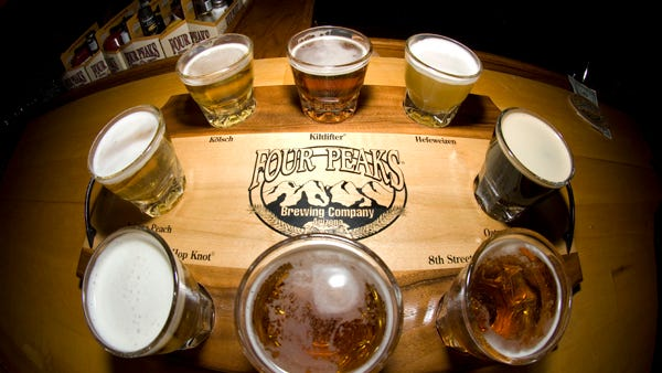 Four Peaks Brewery offers an array of locally brewed craft beers.