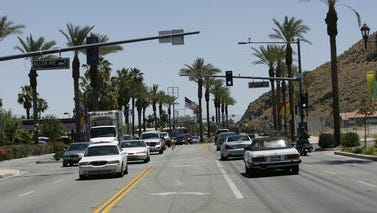 The development of East Palm Canyon Drive through the heart of Cathedral City is a key issue in this year's election.