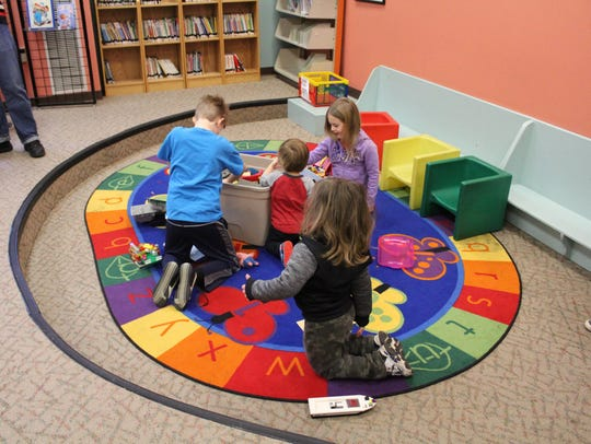 Children at the Egg Harbor Township Library branch