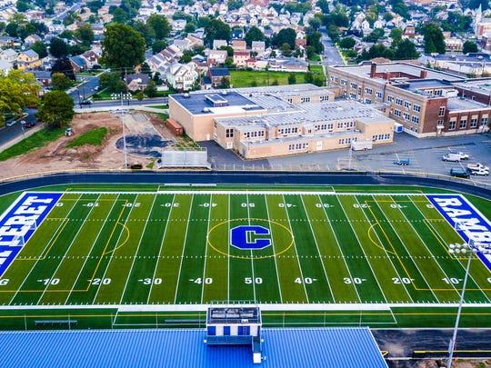 The Carteret football field.