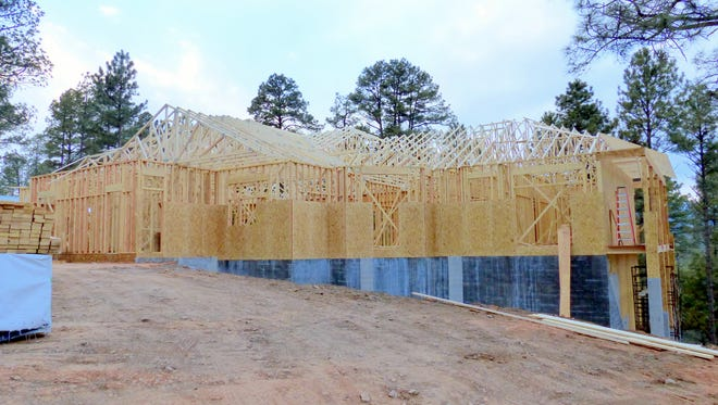 Some large homes are under construction in Ruidoso.
